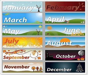 Названия месецов на ин яз