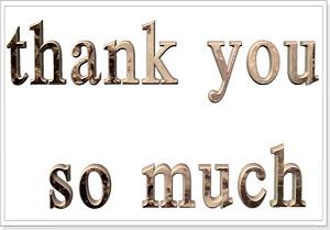 Слова благодарности в фразах