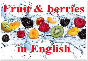Ягоды на английском языке с переводом
