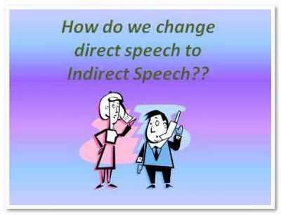 Косвенная речь в английском