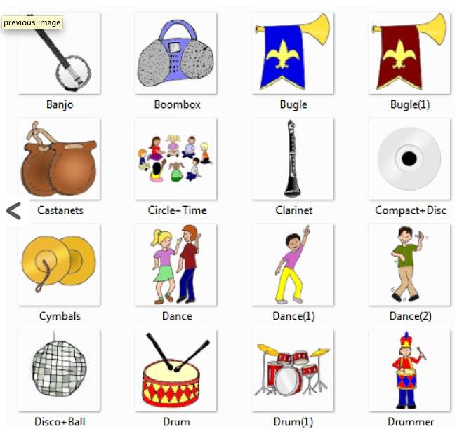 Музыкальные инструменты на английском языке (словарь в картинках)