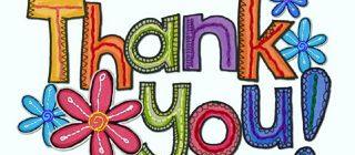 благодарность на английском