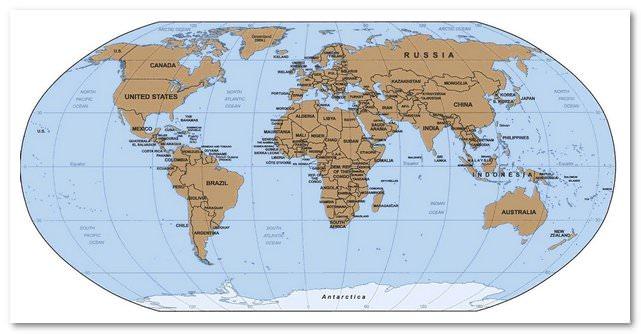 Географические объекты в английском языке