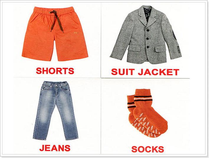 Одежда урок по английскому для детей