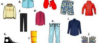 Мужская и женская одежда на английском