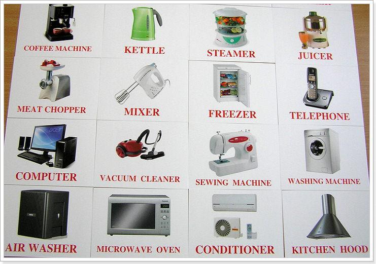 Кухонная техника по английски