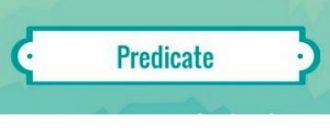 Predicate in English