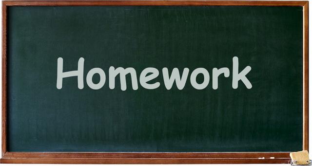 Как правильно пишется «домашняя работа» на английском языке?
